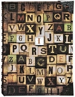 Tim Holtz Market District - Alphabetical Large Spiral Journal
