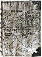 Tim Holtz Market District - Atlas Small Spiral Journal