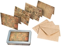 Tim Holtz Market District - Merriment Note Card Set