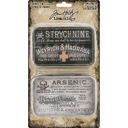 Advantus - Tim Holtz Idea-ology - Halloween Trinket Tins