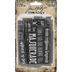 Advantus - Tim Holtz Idea-ology - Halloween Quote Chips