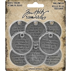 Advantus - Tim Holtz Idea-ology - Halloween Quote Tokens