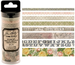 Advantus - Tim Holtz Idea-ology - Design Tape 8/pkg - Rose