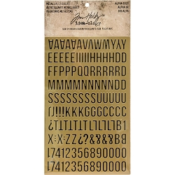 Advantus - Tim Holtz Idea-ology - Metallic Stickers Alpha Gold