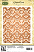 Just Rite - Cling Stamp - Autumn Damask Background Stamp