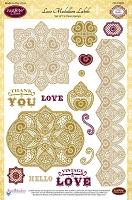 Just Rite - Clear Stamp - Lace Medallion Labels