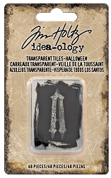 Advantus - Tim Holtz Idea-ology - Transparent Alpha Tiles Halloween