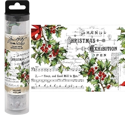 Advantus - Tim Holtz Idea-ology - Christmas Holly Collage Paper