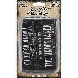 Advantus Tim Holtz Idea-ology - Halloween Quote Chips (2019 version)
