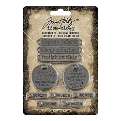Advantus Tim Holtz Idea-ology - Adornments Halloween Words (2020 version)