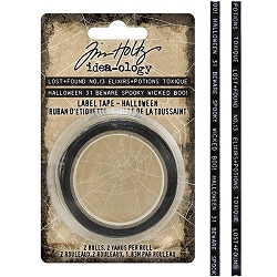 Advantus Tim Holtz Idea-ology - Halloween Label Tape (2020 version)