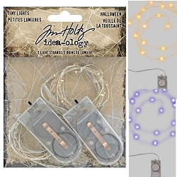 Advantus Tim Holtz Idea-ology - Halloween Tiny Lights (Orange & Purple)