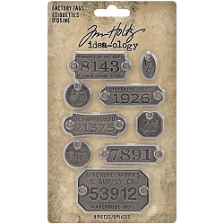 Advantus Tim Holtz Idea-ology - Factory Tags Metal Adornments
