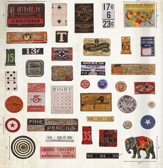 Chipboard Baseboard Embellishments Tim Holtz idea-ology Junk Drawer