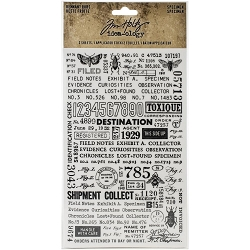 Advantus Tim Holtz Idea-ology - Specimen Remnant Rub-Ons