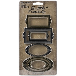 Advantus Tim Holtz Idea-ology - Label Frames Metal Adornments