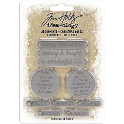 Advantus Tim Holtz Idea-ology - Christmas Word Adornments (2019 version)