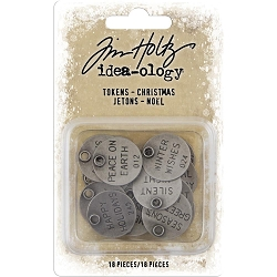 Advantus Tim Holtz Idea-ology - Christmas Typed Tokens (2019 version)