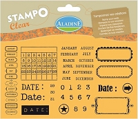 Aladine Clear Stamp Set - Calendar