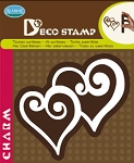 Aladine-Home Deco Stamp-Double Heart