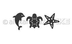 Alexandra Renke - Cutting Die - Tiny Dolphin, Turtle, Starfish