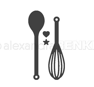 Alexandra Renke - Cutting Die - Wooden Spoon and Whisk