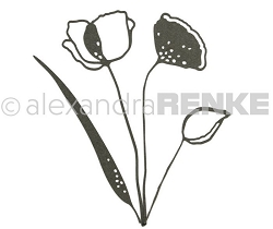 Alexandra Renke - Cutting Die - Poppy Flowers