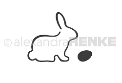 Alexandra Renke - Cutting Die - Bunny with egg