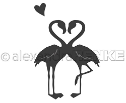 Alexandra Renke - Cutting Die - Flamingo heart
