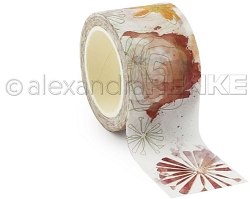 Alexandra Renke - Washi Tape - Red magic flowers (1.2