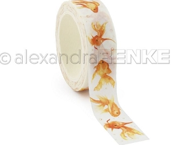 Alexandra Renke - Washi Tape - Gold fishes (0.6