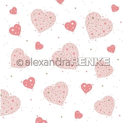 Alexandra Renke - Geometric Christmas Heart of Stars - 12