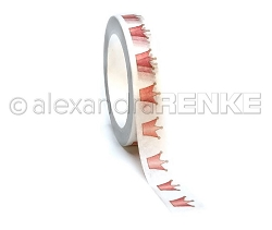 Alexandra Renke - Pink Crowns Washi Tape (0.375