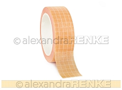 Alexandra Renke - Washi Tape - White Grid on Yellow (0.6
