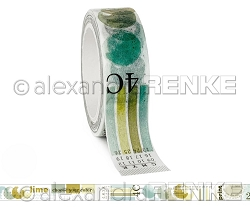 Alexandra Renke - Washi Tape - Lime Green Color Proof (0.6