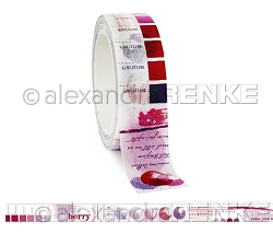Alexandra Renke - Washi Tape - Berry Color Proof (0.6