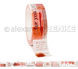 Alexandra Renke - Washi Tape - Coral Red Color Proof (0.6