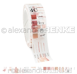 Alexandra Renke - Washi Tape - Coral Pink Color Proof (0.6