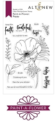 Altenew - Clear Stamps - Paint-A-Flower: Poppy