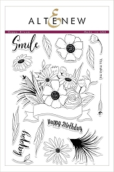 Altenew - Clear Stamps - Happy Bloom