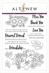 Altenew - Clear Stamps - Dearest Friend