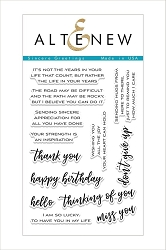 Altenew - Clear Stamps - Sincere Greetings