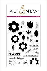 Altenew - Clear Stamps - Folksy Florals