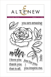 Altenew - Clear Stamps - Penned Rose