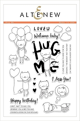 Altenew - Clear Stamps - Hug Me