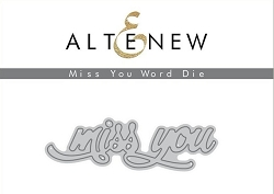 Altenew - Cutting Dies - Miss You Word Die