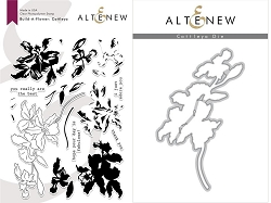 Altenew - Clear Stamps & Die bundle - Cattleya Build-a-Flower