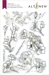 Altenew - Clear Stamps - Pen Sketched Flowers