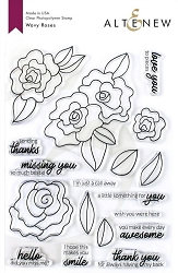 Altenew - Clear Stamps - Wavy Roses