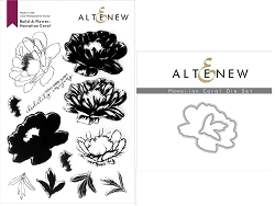 Altenew - Clear Stamps & Die bundle - Build-a-Flower Hawaiian Coral